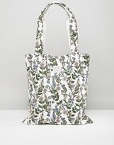 Jack Wills White Floral Tote Bag