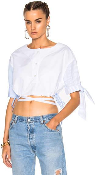 Alexander Wang Short Sleeve Cropped Shirt