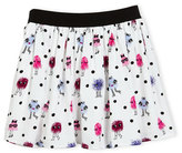 Kate Spade Pebbled Crepe Monster Skirt, Multicolor, Size 7-14
