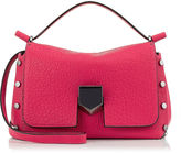 Jimmy Choo LOCKETT/S Dahlia Pink Grainy Leather and Nappa Handbag