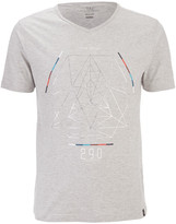 Smith & Jones Men's Byzantine Asymmetric T-Shirt - Light Grey Marl