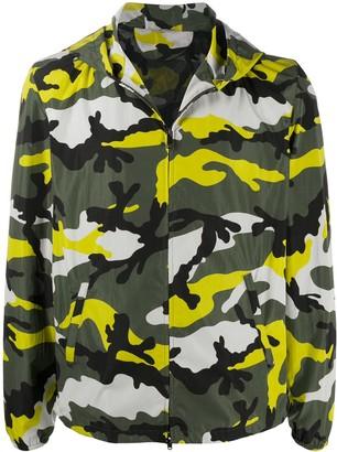 Valentino Camouflage Print Windbreaker