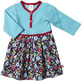 Zutano Oopsie Daisy Pleats Dress (Baby)-Navy-12 Months
