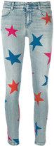 Stella McCartney Stars print jeans - women - Cotton/Spandex/Elastane - 24