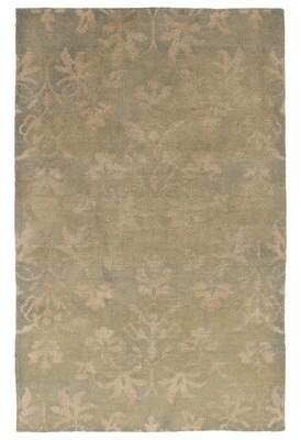 "Trudeau Charlton Home One-of-a-Kind Hand-Knotted 4'11"" x 7'9"" Wool/Silk Beige Area Rug Charlton Home"
