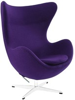 The Well Appointed House Organic Purple Natural Lounge Chair - ON BACKORDER -
