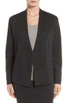 Eileen Fisher Sleek Tencel(R) & Merino Wool Shaped Cardigan