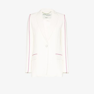Off-White Contrast stripe blazer
