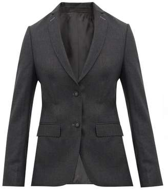 Officine Generale Vanessa Single-breasted Wool-poplin Blazer - Womens - Grey