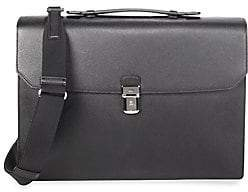 Dunhill Men's Cadagan Flap Leather Briefcase
