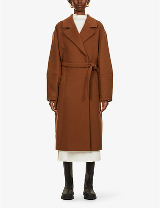 Designers Remix Cyrus belted woven coat