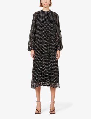 Kitri Sofiane polka dot-print woven midi dress