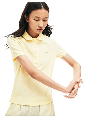 Lacoste Short Sleeve Slim Fit Stretch Pique Polo (Igloo) Women's Clothing