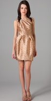 Porter Grey Print One Shoulder Dress
