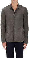 John Varvatos MEN'S SUEDE SHIRT JACKET