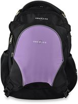 Obersee Oslo Diaper Bag Backpack with Detachable Cooler in Black/Purple