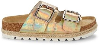 J/Slides Leighton Iridescent Leather Slides