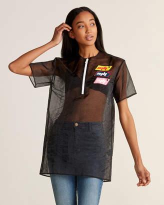 Au Jour Le Jour Sheer Patchy Oversized Shirt