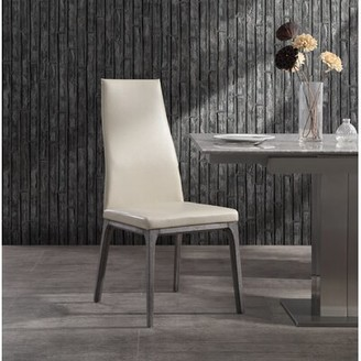 Orren Ellis Bayerl Upholstered Dining Chair Upholstery Color: Taupe