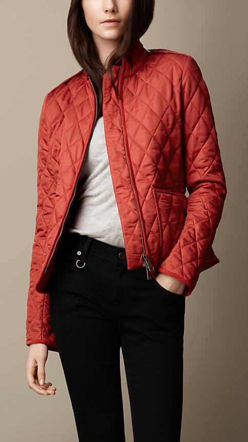 Burberry Epaulette Detail Quilted Jacket