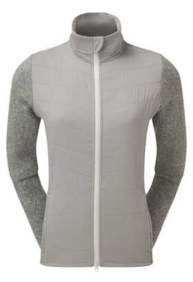 Foot Joy Footjoy Women's WMNS Quilted JKT H.Grey W/wht Track Jacket