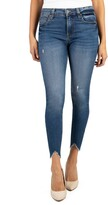 KUT from the Kloth Connie High Waist Bitten Hem Ankle Skinny Jeans