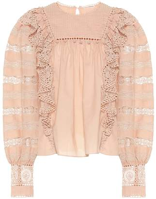 Ulla Johnson Ruffled cotton-blend blouse