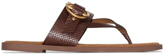 Stella McCartney Buckled Thong Style Sandals