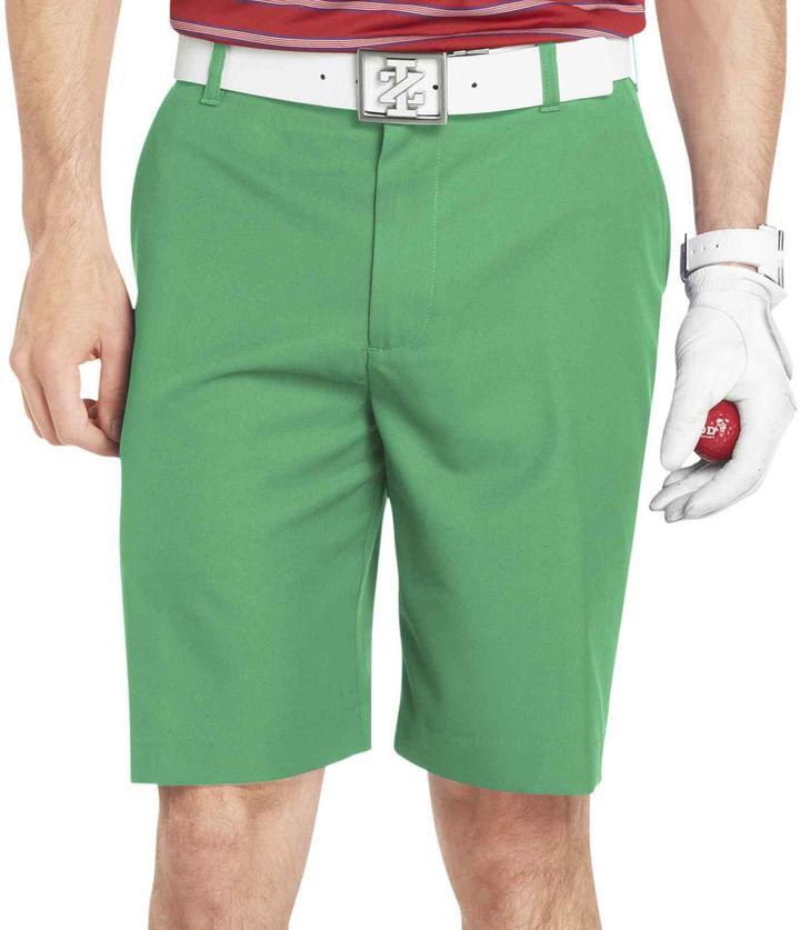 Izod Golf Flat-Front Shorts