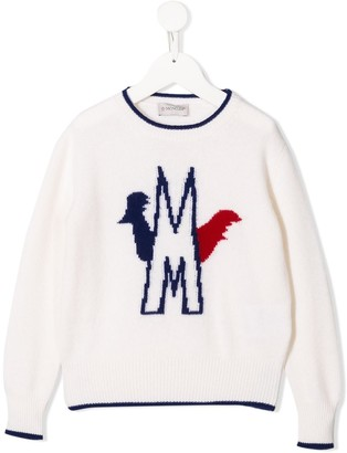 Moncler Enfant Logo Knit Sweater