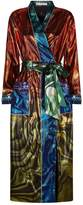 Mary Katrantzou Embellished Metallic Crepe Robe, White, UK 10