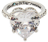 Betsey Johnson Blue by Cubic Zirconia Heart Ring
