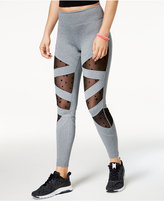 Jessica Simpson The Warm Up Mesh-Inset Leggings