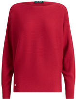 Ralph Lauren Petite Stretch Cotton Dolman Sweater