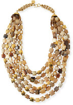 Ashley Pittman Kila Light Horn Multi-Strand Necklace