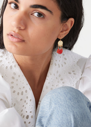 And other stories Dangling Feather Pendant Earrings