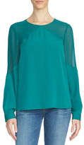 1 STATE Contrast Split Back Blouse
