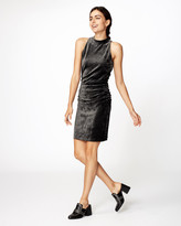Nicole Miller Velvet Mock Neck Dress