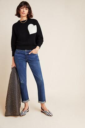 Pilcro Mid-Rise Slim Boyfriend Jeans By Pilcro and the Letterpress in Blue Size 24W