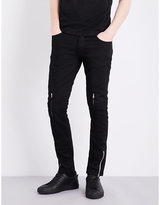 Alexander Mcqueen Zip-detail Straight Mid-rise Jeans