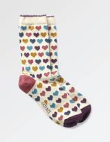 Fat Face One Pack Multi Heart Socks