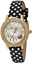 Betsey Johnson Women's Quartz Metal and Leather Automatic Watch, Multi Color (Model: BJ00251-10)