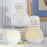 Pierced Porcelain Gourd Candlelight