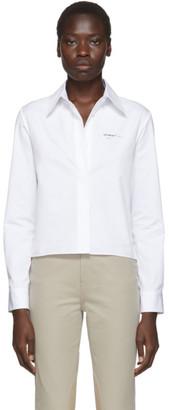 Off-White White Cropped Plisse Shirt
