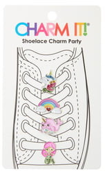 Charm It!(R) 4-Pack Magical Glitter Shoelace Charms