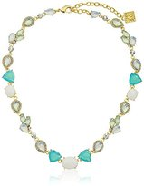 "Anne Klein St. Barths"" Gold-Tone Green and Crystal Small All Around Collar Necklace, 16"" + 3"" Extender"