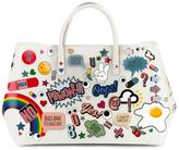 Anya Hindmarch Maxi Featherweight 'Ebury' Tote with Stickers Print