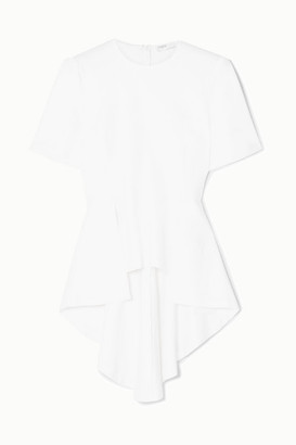 Rosetta Getty Draped Stretch-jersey Top - White