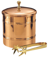Old Dutch Ice Bucket with Brass Tongs Set (2 PC)