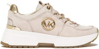 MICHAEL Michael Kors Metallic-trimmed Suede And Shell-paneled Sneakers